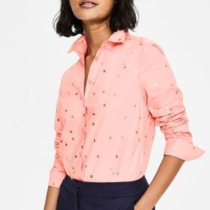 BODEN springy polka dot the classic shirt